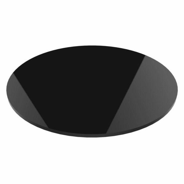 "Round Black Acrylic Disc 17"" Dia 10mm Thick"