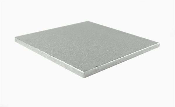 Silver Square Cake Drum Board 12mm Thick